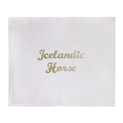 Icelandic Horse Gifts Throw Blanket