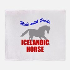 Ride With Pride Icelandic Hor Throw Blanket
