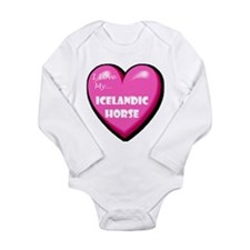 I Love My Icelandic Horse Long Sleeve Infant Bodys