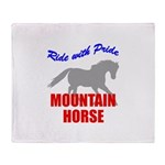 Ride With Pride Mountain Hors Throw Blanket