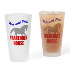 Pride Trakehner Horse Pint Glass
