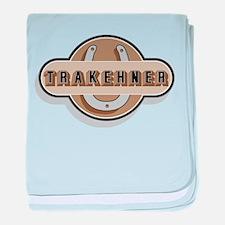 Trakehner Horse baby blanket
