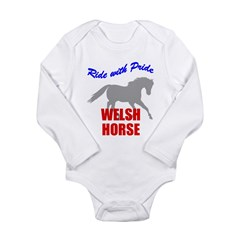 Ride With Pride Welsh Horse Long Sleeve Infant Bod