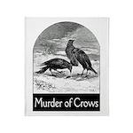 Murder of Crows Throw Blanket