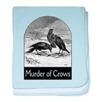 Murder of Crows baby blanket