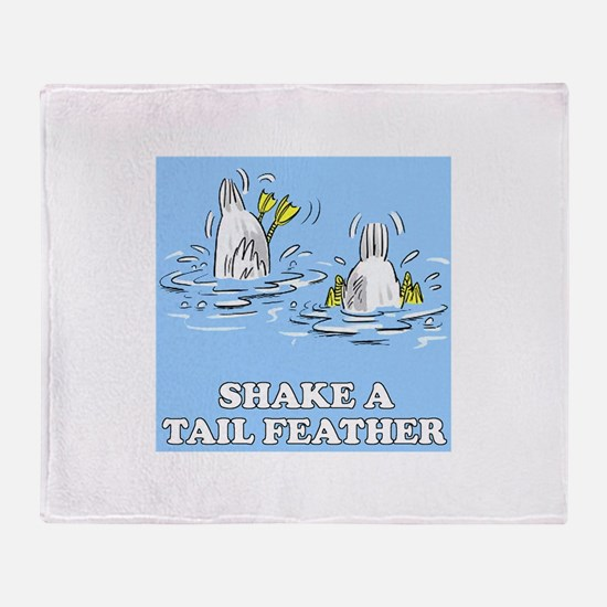Shake A Tail Feather Throw Blanket