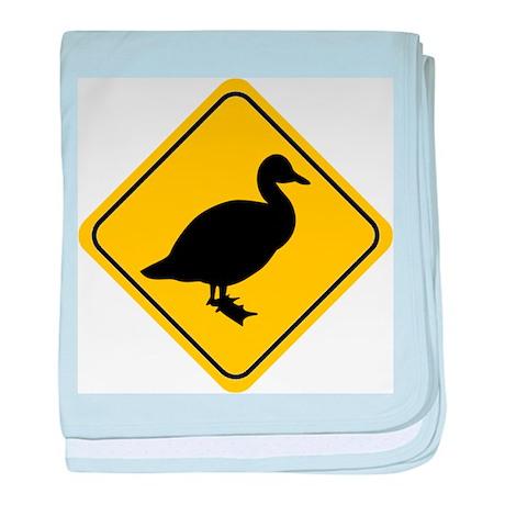 Duck Crossing Sign baby blanket
