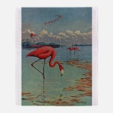 Flamingo Art Throw Blanket