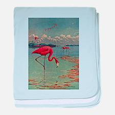 Flamingo Art baby blanket