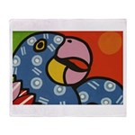 Tropical Parrot Throw Blanket