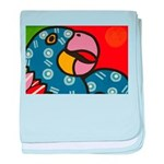 Tropical Parrot baby blanket