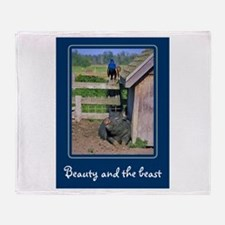 Beauty & The Beast Throw Blanket