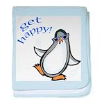Get Happy Dancing Penguin baby blanket