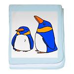 Cute Penguins Cartoon baby blanket