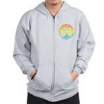 Peace - rainbow Zip Hoodie