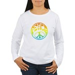 Peace - rainbow Women's Long Sleeve T-Shirt