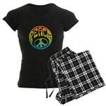 Peace - rainbow Women's Dark Pajamas