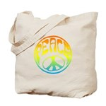 Peace - rainbow Tote Bag