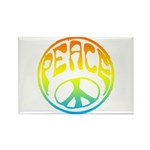 Peace - rainbow Rectangle Magnet (10 pack)