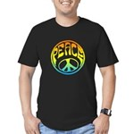 Peace - rainbow Men's Fitted T-Shirt (dark)
