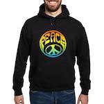 Peace - rainbow Hoodie (dark)