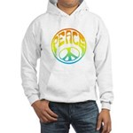 Peace - rainbow Hooded Sweatshirt