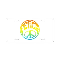 Peace - rainbow Aluminum License Plate