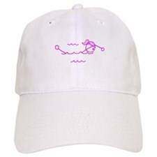 Swimming Girl Pink No Words Baseball Cap