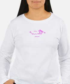 Swimming Girl Pink No Words T-Shirt