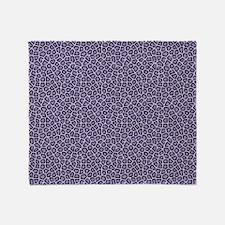 Unique Purple leopard Throw Blanket