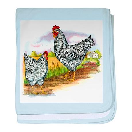 Antique Chicken Illustration baby blanket