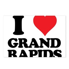 I love Grand Rapids Postcards (Package of 8)