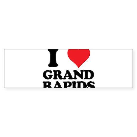 I love Grand Rapids Sticker (Bumper)