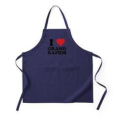 I love Grand Rapids Apron (dark)