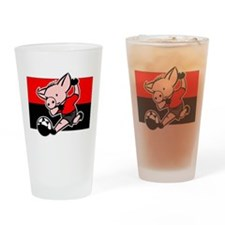Belgium Soccer Pigs Pint Glass