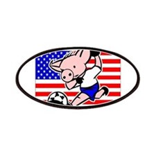 USA Soccer Pigs Patches