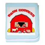 Barn Goddess baby blanket