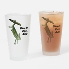 Hang In There Chameleon Pint Glass