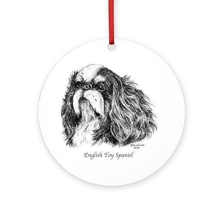 English Toy Spaniel Ornament (Round)