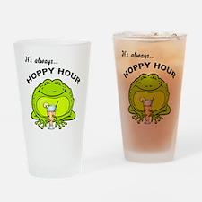 Hoppy Hour Frog Drinking Glass