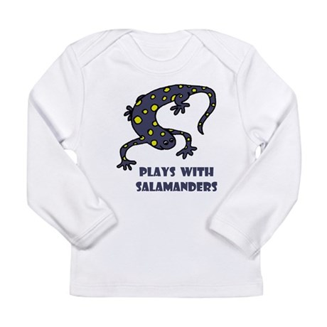 Plays With Salamanders Long Sleeve Infant T-Shirt