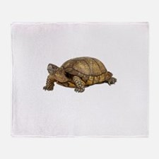 Box Turtle Throw Blanket
