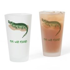 Plays With Alligators Pint Glass