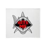 Bite Me Shark Throw Blanket