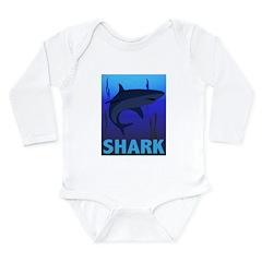 Graphic Shark Long Sleeve Infant Bodysuit