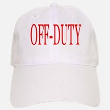 Off-Duty (Red) Baseball Baseball Cap