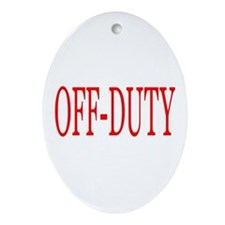 Off-Duty (Red) Ornament (Oval)