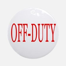 Off-Duty (Red) Ornament (Round)