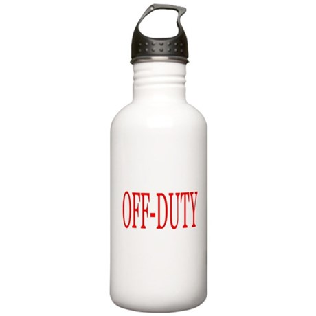 Off-Duty (Red) Stainless Water Bottle 1.0L