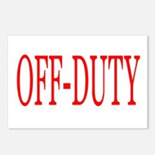 Off-Duty (Red) Postcards (Package of 8)